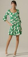 Мини-платье в винтажном стиле, Karen Zambos ($324)